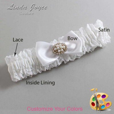 Couture Garters / Custom Wedding Garter / Customizable Wedding Garters / Personalized Wedding Garters / Kathy #06-B31-M16 / Wedding Garters / Bridal Garter / Prom Garter / Linda Joyce Couture
