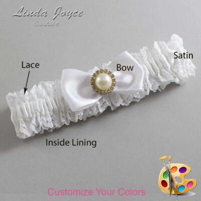 Couture Garters / Custom Wedding Garter / Customizable Wedding Garters / Personalized Wedding Garters / Kendra #06-B31-M21 / Wedding Garters / Bridal Garter / Prom Garter / Linda Joyce Couture