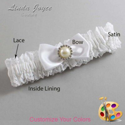 Couture Garters / Custom Wedding Garter / Customizable Wedding Garters / Personalized Wedding Garters / Kendra #06-B31-M22 / Wedding Garters / Bridal Garter / Prom Garter / Linda Joyce Couture