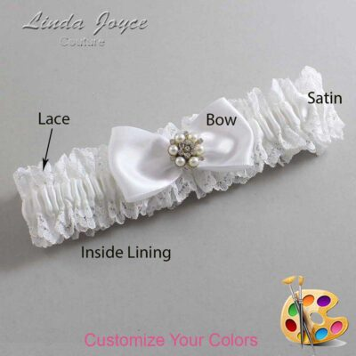 Couture Garters / Custom Wedding Garter / Customizable Wedding Garters / Personalized Wedding Garters / Julie #06-B31-M23 / Wedding Garters / Bridal Garter / Prom Garter / Linda Joyce Couture