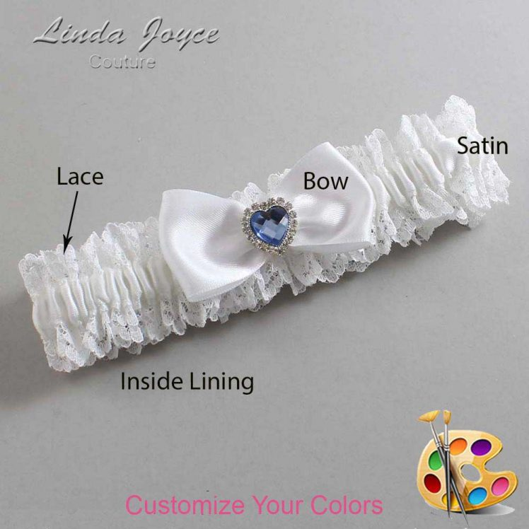 Couture Garters / Custom Wedding Garter / Customizable Wedding Garters / Personalized Wedding Garters / Judy #06-B31-M25 / Wedding Garters / Bridal Garter / Prom Garter / Linda Joyce Couture