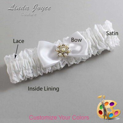 Couture Garters / Custom Wedding Garter / Customizable Wedding Garters / Personalized Wedding Garters / Melissa #06-B31-M27 / Wedding Garters / Bridal Garter / Prom Garter / Linda Joyce Couture