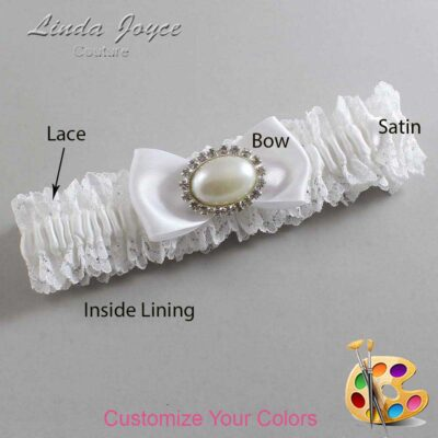 Couture Garters / Custom Wedding Garter / Customizable Wedding Garters / Personalized Wedding Garters / Juliette #06-B31-M30 / Wedding Garters / Bridal Garter / Prom Garter / Linda Joyce Couture