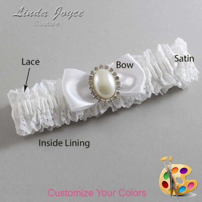 Couture Garters / Custom Wedding Garter / Customizable Wedding Garters / Personalized Wedding Garters / Mindy #06-B31-M31 / Wedding Garters / Bridal Garter / Prom Garter / Linda Joyce Couture