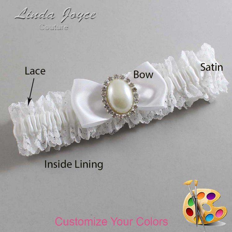 Couture Garters / Custom Wedding Garter / Customizable Wedding Garters / Personalized Wedding Garters / Mindy #06-B31-M31 / Wedding Garters / Bridal Garter / Prom Garter / Linda Joyce Couture