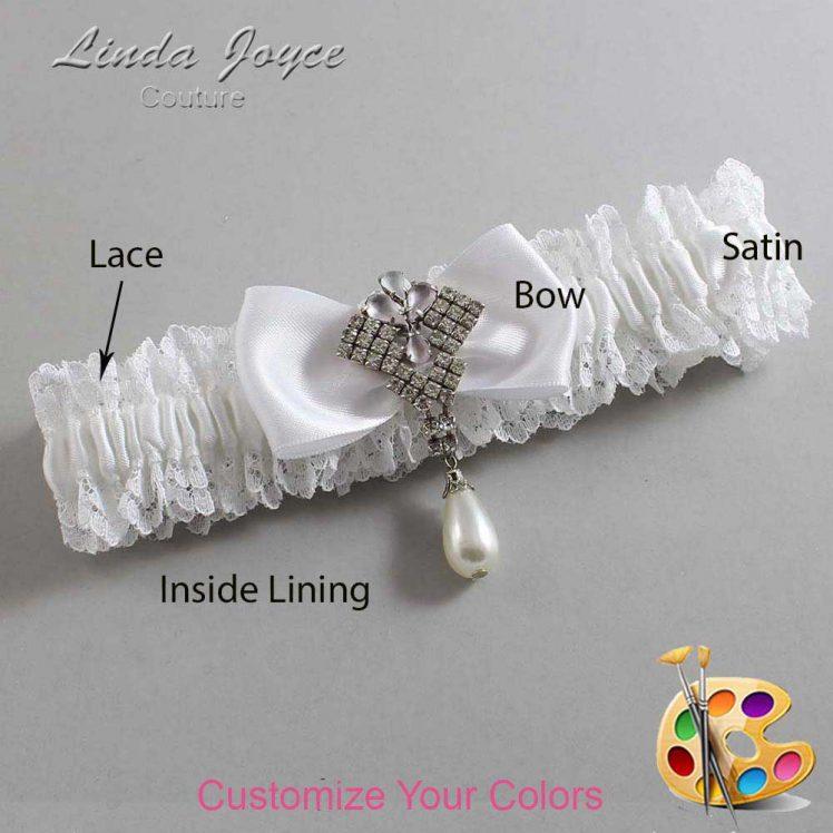 Couture Garters / Custom Wedding Garter / Customizable Wedding Garters / Personalized Wedding Garters / Mavis #06-B31-M33 / Wedding Garters / Bridal Garter / Prom Garter / Linda Joyce Couture