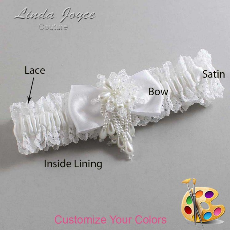 Couture Garters / Custom Wedding Garter / Customizable Wedding Garters / Personalized Wedding Garters / Joelle #06-B31-M38 / Wedding Garters / Bridal Garter / Prom Garter / Linda Joyce Couture