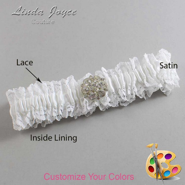 Couture Garters / Custom Wedding Garter / Customizable Wedding Garters / Personalized Wedding Garters / Belle #06-M11 / Wedding Garters / Bridal Garter / Prom Garter / Linda Joyce Couture