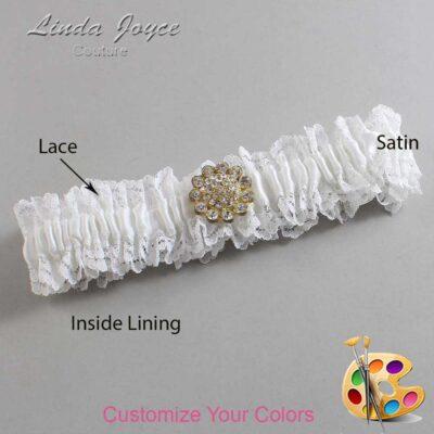Couture Garters / Custom Wedding Garter / Customizable Wedding Garters / Personalized Wedding Garters / Lynnette #06-M12 / Wedding Garters / Bridal Garter / Prom Garter / Linda Joyce Couture