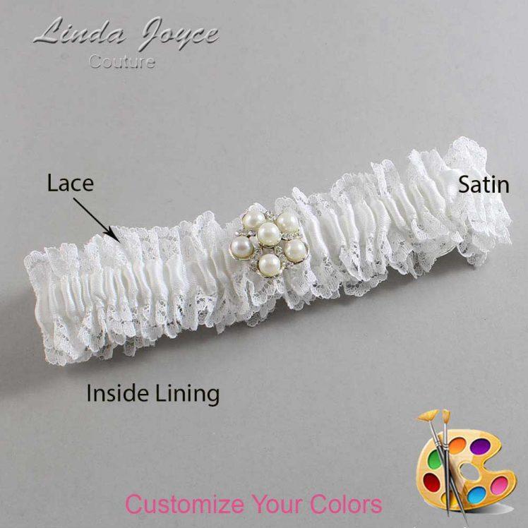Couture Garters / Custom Wedding Garter / Customizable Wedding Garters / Personalized Wedding Garters / Liza #06-M13 / Wedding Garters / Bridal Garter / Prom Garter / Linda Joyce Couture