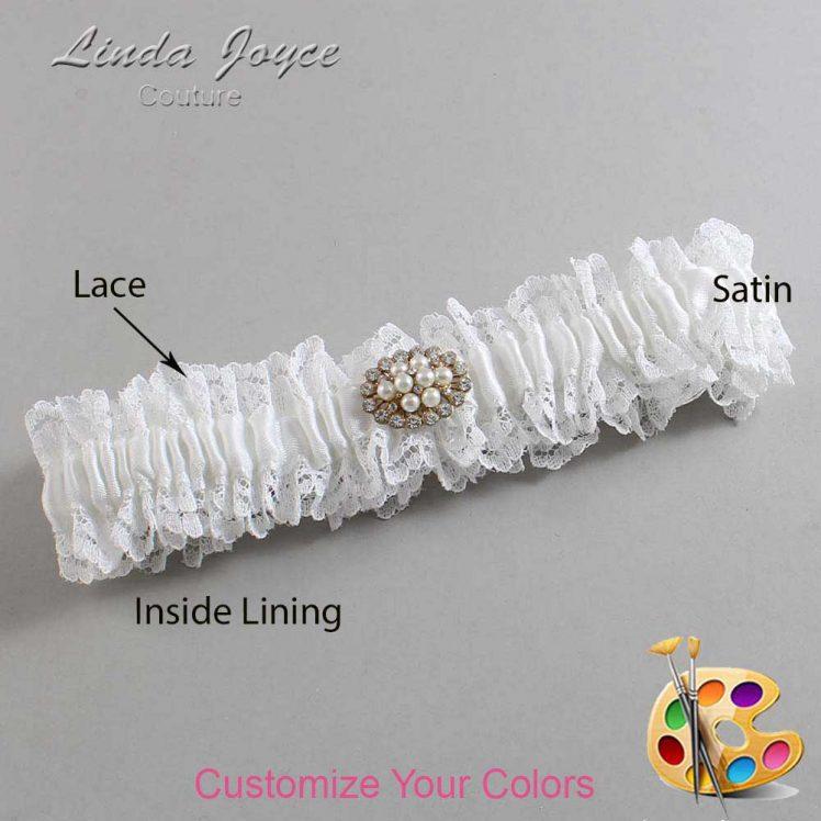 Couture Garters / Custom Wedding Garter / Customizable Wedding Garters / Personalized Wedding Garters / Fay #06-M16 / Wedding Garters / Bridal Garter / Prom Garter / Linda Joyce Couture