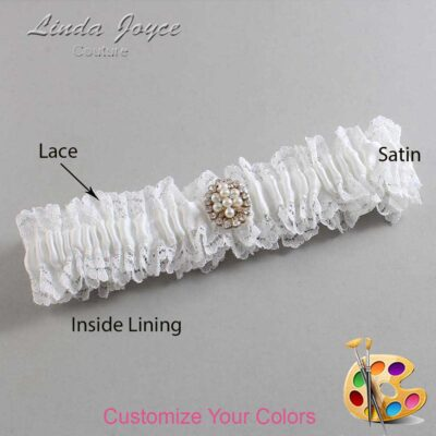 Couture Garters / Custom Wedding Garter / Customizable Wedding Garters / Personalized Wedding Garters / Leigh #06-M17 / Wedding Garters / Bridal Garter / Prom Garter / Linda Joyce Couture