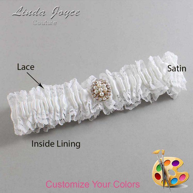 Couture Garters / Custom Wedding Garter / Customizable Wedding Garters / Personalized Wedding Garters / Leigh #06-M17 / Wedding Garters / Bridal Garter / Prom Garter / Linda Joyce Couture