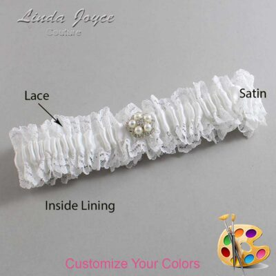 Couture Garters / Custom Wedding Garter / Customizable Wedding Garters / Personalized Wedding Garters / Ercia #06-M20 / Wedding Garters / Bridal Garter / Prom Garter / Linda Joyce Couture