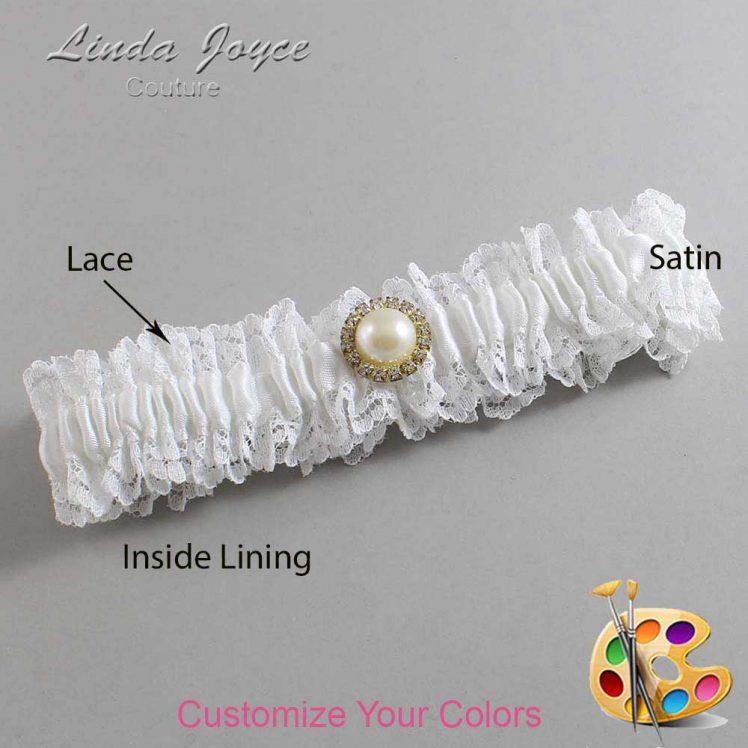Couture Garters / Custom Wedding Garter / Customizable Wedding Garters / Personalized Wedding Garters / Dana #06-M21 / Wedding Garters / Bridal Garter / Prom Garter / Linda Joyce Couture