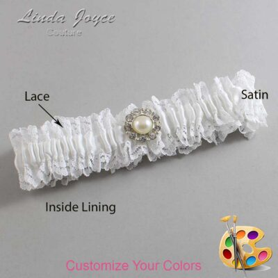 Couture Garters / Custom Wedding Garter / Customizable Wedding Garters / Personalized Wedding Garters / Lynn #06-M24 / Wedding Garters / Bridal Garter / Prom Garter / Linda Joyce Couture