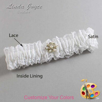 Couture Garters / Custom Wedding Garter / Customizable Wedding Garters / Personalized Wedding Garters / Elaine #06-M27 / Wedding Garters / Bridal Garter / Prom Garter / Linda Joyce Couture