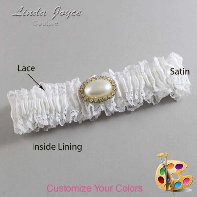 Couture Garters / Custom Wedding Garter / Customizable Wedding Garters / Personalized Wedding Garters / Jane #06-M28 / Wedding Garters / Bridal Garter / Prom Garter / Linda Joyce Couture