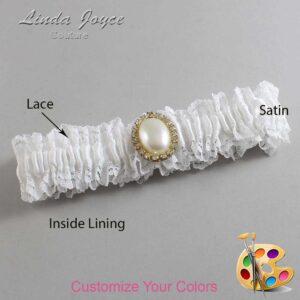 Couture Garters / Custom Wedding Garter / Customizable Wedding Garters / Personalized Wedding Garters / Halle #06-M29 / Wedding Garters / Bridal Garter / Prom Garter / Linda Joyce Couture