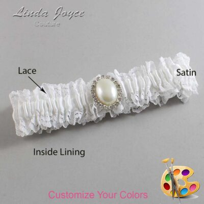Couture Garters / Custom Wedding Garter / Customizable Wedding Garters / Personalized Wedding Garters / Halle #06-M31 / Wedding Garters / Bridal Garter / Prom Garter / Linda Joyce Couture