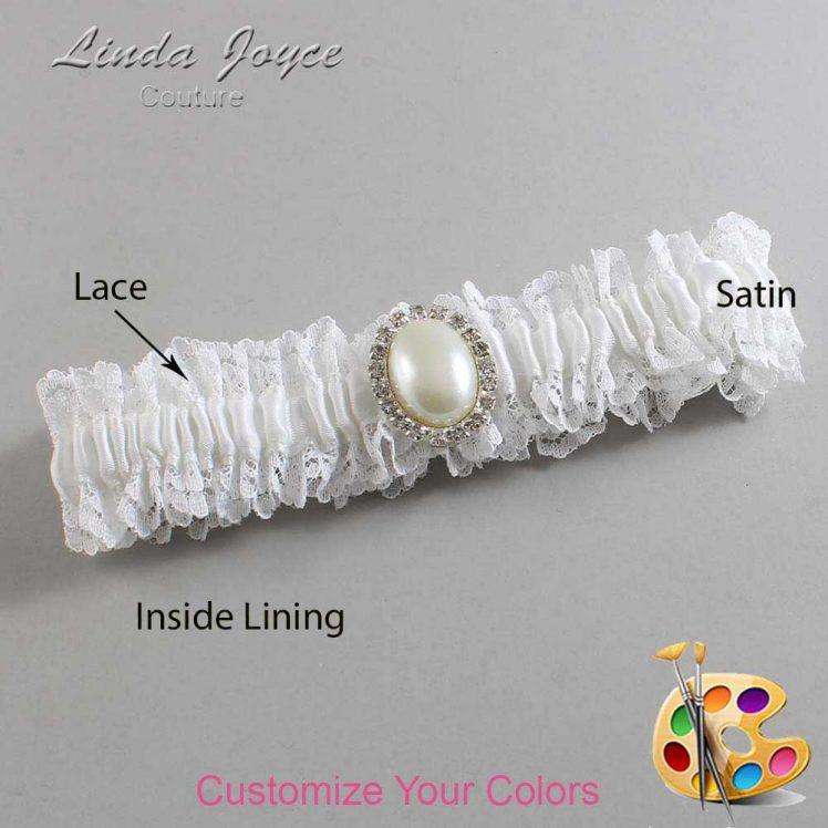 Couture Garters / Custom Wedding Garter / Customizable Wedding Garters / Personalized Wedding Garters / Halle #06-M31 / Wedding Garters / Bridal Garter / Prom Garter / Linda Joyce Couture