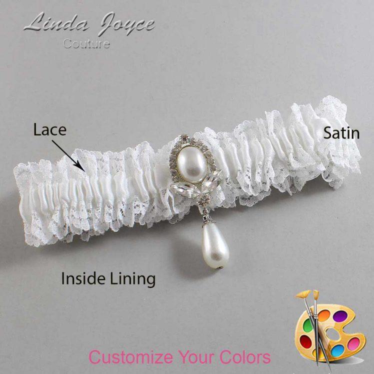 Couture Garters / Custom Wedding Garter / Customizable Wedding Garters / Personalized Wedding Garters / Grace #06-M32 / Wedding Garters / Bridal Garter / Prom Garter / Linda Joyce Couture