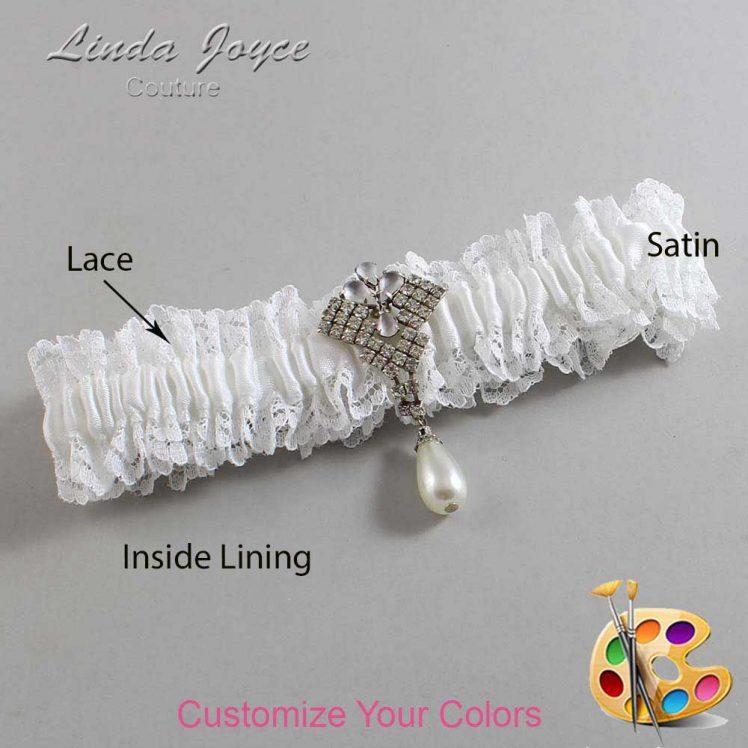 Couture Garters / Custom Wedding Garter / Customizable Wedding Garters / Personalized Wedding Garters / Lauren #06-M33 / Wedding Garters / Bridal Garter / Prom Garter / Linda Joyce Couture