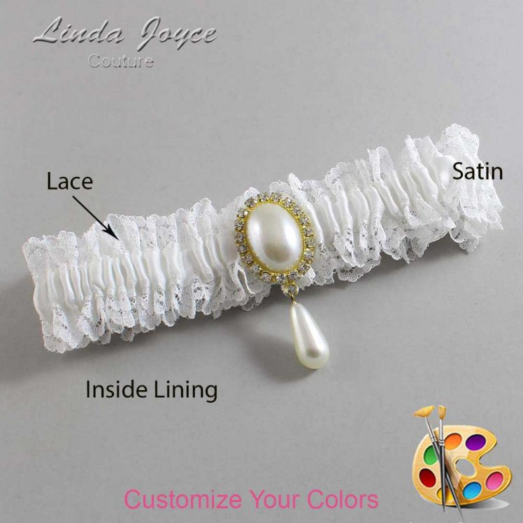 Couture Garters / Custom Wedding Garter / Customizable Wedding Garters / Personalized Wedding Garters / Cora #06-M34 / Wedding Garters / Bridal Garter / Prom Garter / Linda Joyce Couture