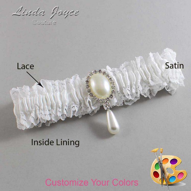 Couture Garters / Custom Wedding Garter / Customizable Wedding Garters / Personalized Wedding Garters / Cora #06-M35 / Wedding Garters / Bridal Garter / Prom Garter / Linda Joyce Couture