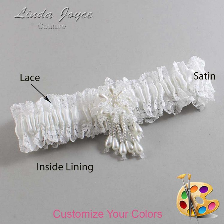 Couture Garters / Custom Wedding Garter / Customizable Wedding Garters / Personalized Wedding Garters / Folly #06-M38 / Wedding Garters / Bridal Garter / Prom Garter / Linda Joyce Couture