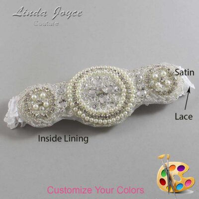 Couture Garters / Custom Wedding Garter / Customizable Wedding Garters / Personalized Wedding Garters / Linda #09-A00 / Wedding Garters / Bridal Garter / Prom Garter / Linda Joyce Couture