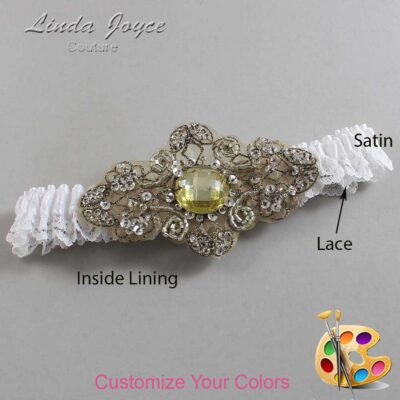 Couture Garters / Custom Wedding Garter / Customizable Wedding Garters / Personalized Wedding Garters / Bijou # 09-A09-Antique / Wedding Garters / Bridal Garter / Prom Garter / Linda Joyce Couture