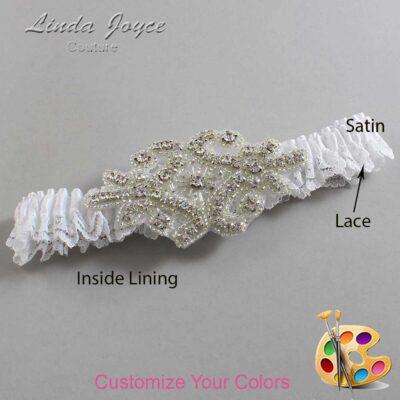 Couture Garters / Custom Wedding Garter / Customizable Wedding Garters / Personalized Wedding Garters / Heather # 09-A07-Silver / Wedding Garters / Bridal Garter / Prom Garter / Linda Joyce Couture