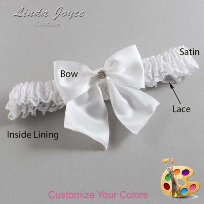 Customizable Wedding Garter / Pamela #09-B01-M03-Gold
