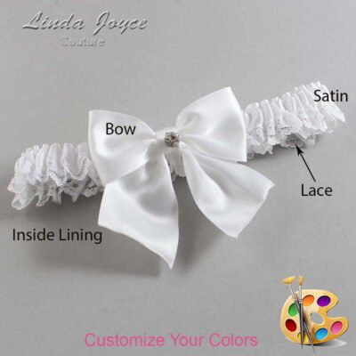 Couture Garters / Custom Wedding Garter / Customizable Wedding Garters / Personalized Wedding Garters / Pamela #09-B01-M04 / Wedding Garters / Bridal Garter / Prom Garter / Linda Joyce Couture
