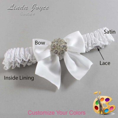 Customizable Wedding Garter / Elizabeth #09-B01-M11-Silver