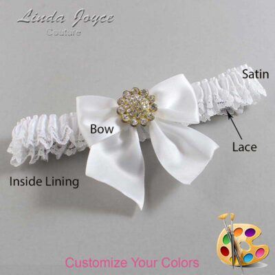 Couture Garters / Custom Wedding Garter / Customizable Wedding Garters / Personalized Wedding Garters / Penny #09-B01-M12 / Wedding Garters / Bridal Garter / Prom Garter / Linda Joyce Couture