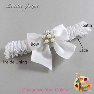 Couture Garters / Custom Wedding Garter / Customizable Wedding Garters / Personalized Wedding Garters / Monica #09-B01-M13 / Wedding Garters / Bridal Garter / Prom Garter / Linda Joyce Couture