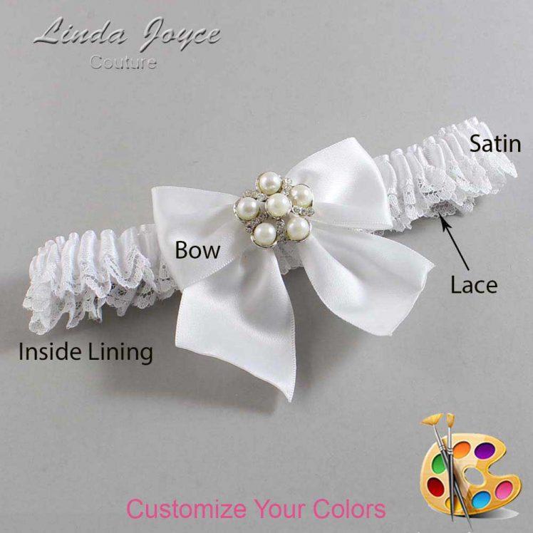 Couture Garters / Custom Wedding Garter / Customizable Wedding Garters / Personalized Wedding Garters / Monica #09-B01-M13 / Wedding Garters / Bridal Garter / Prom Garter / Linda Joyce Couture