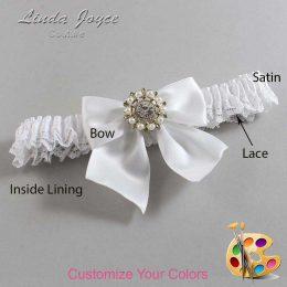 Customizable Wedding Garter / Adelle #09-B01-M14-Silver