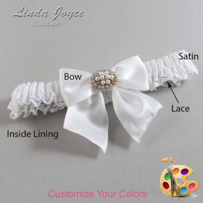 Customizable Wedding Garter / Cynthia #09-B01-M16-Gold