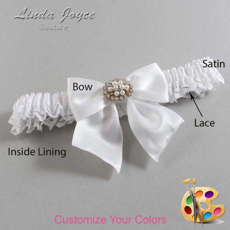 Couture Garters / Custom Wedding Garter / Customizable Wedding Garters / Personalized Wedding Garters / Cynthia #09-B01-M16 / Wedding Garters / Bridal Garter / Prom Garter / Linda Joyce Couture