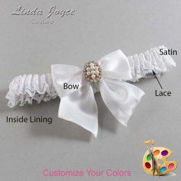 Couture Garters / Custom Wedding Garter / Customizable Wedding Garters / Personalized Wedding Garters / Annie #09-B01-M17 / Wedding Garters / Bridal Garter / Prom Garter / Linda Joyce Couture