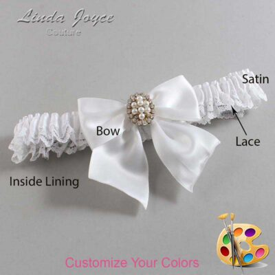 Couture Garters / Custom Wedding Garter / Customizable Wedding Garters / Personalized Wedding Garters / Annie #09-B01-M17 / Wedding Garters / Bridal Garter / Prom Garter / Linda Joyce Couture