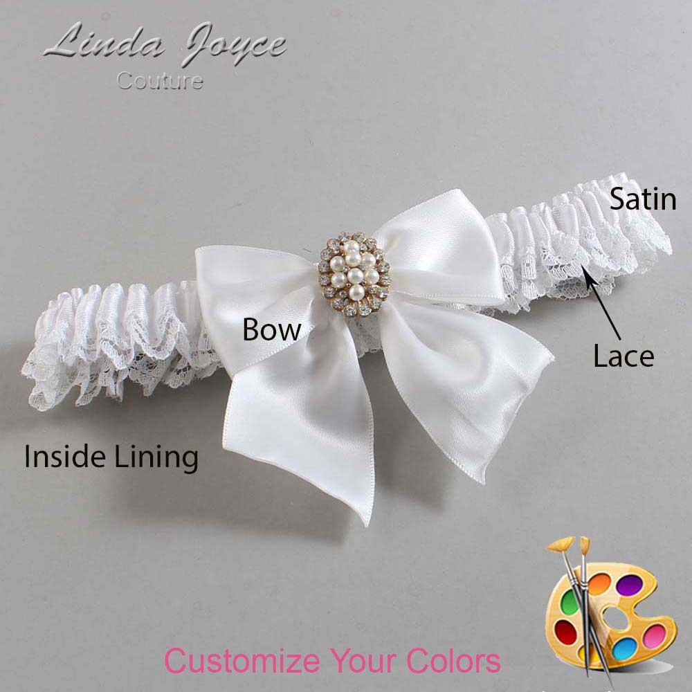 Customizable Wedding Garter / Annie #09-B01-M17-Gold