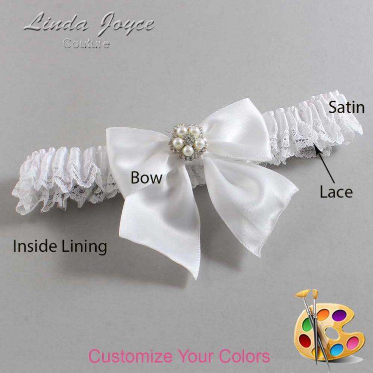 Couture Garters / Custom Wedding Garter / Customizable Wedding Garters / Personalized Wedding Garters / Kourtney #09-B01-M20 / Wedding Garters / Bridal Garter / Prom Garter / Linda Joyce Couture