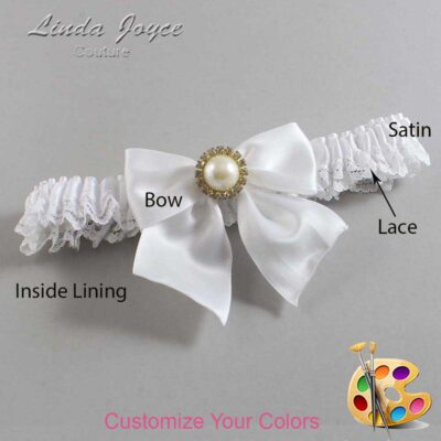 Couture Garters / Custom Wedding Garter / Customizable Wedding Garters / Personalized Wedding Garters / Paige #09-B01-M21 / Wedding Garters / Bridal Garter / Prom Garter / Linda Joyce Couture
