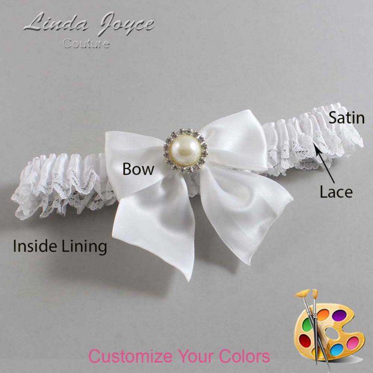 Couture Garters / Custom Wedding Garter / Customizable Wedding Garters / Personalized Wedding Garters / Paige #09-B01-M22 / Wedding Garters / Bridal Garter / Prom Garter / Linda Joyce Couture