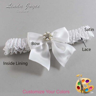 Couture Garters / Custom Wedding Garter / Customizable Wedding Garters / Personalized Wedding Garters / Naomi #09-B01-M23 / Wedding Garters / Bridal Garter / Prom Garter / Linda Joyce Couture