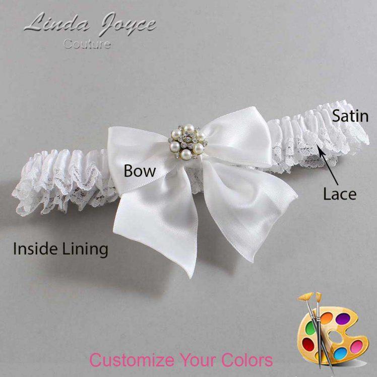 Couture Garters / Custom Wedding Garter / Customizable Wedding Garters / Personalized Wedding Garters / Naomi #09-B01-M23 / Wedding Garters / Bridal Garter / Prom Garter / Linda Joyce Couture